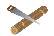 Holz einsägen